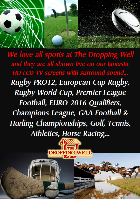 The Dropping Well - we love sport for website events-sports page