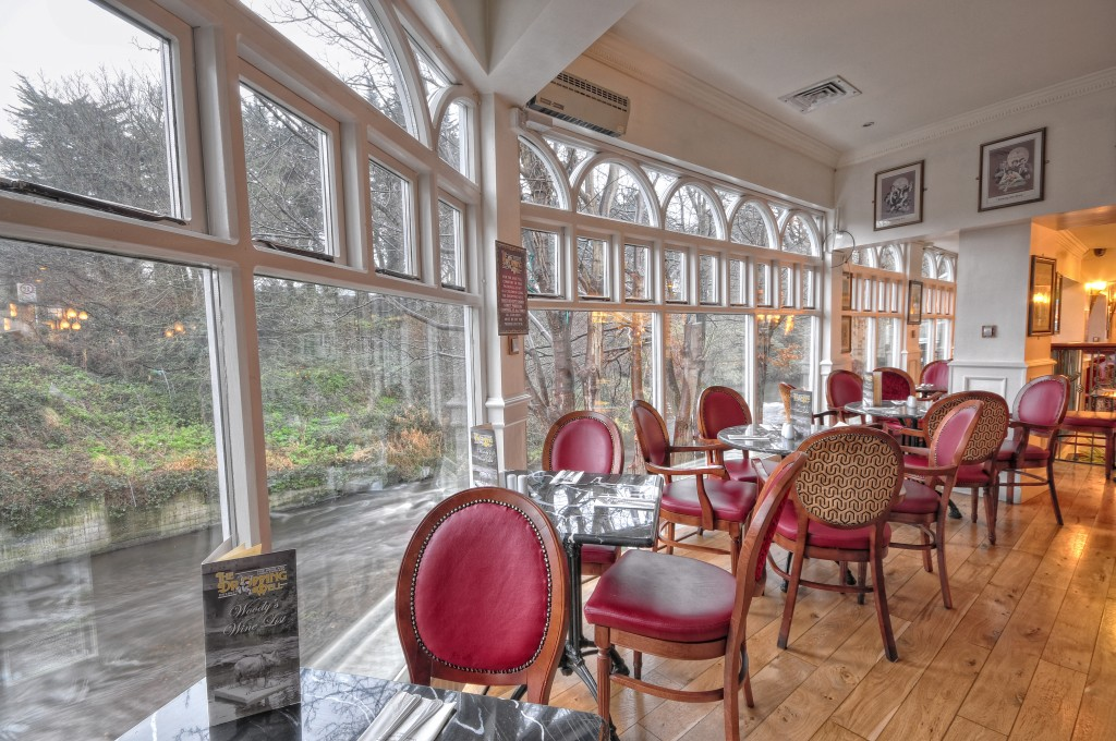 Our sunny Classon's Bridge restaurant with panoramic views of The Dodder Rover